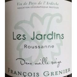 Domaine Francois Grenier Jardins Roussanne blanc 2016 etiquette