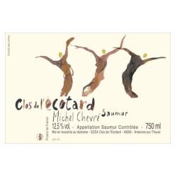 """Domaine Michel Chevré Saumur """"Clos de l'Ecotard"""" blanc sec 2016 etiquette"""