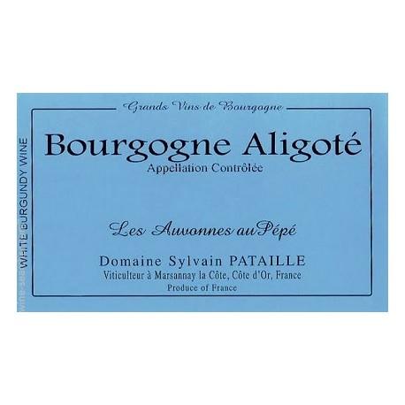 """Domaine Sylvain Pataille Bourgogne Aligoté """"Les Auvonnes au Pépé"""" blanc sec 2015 etiquette"""