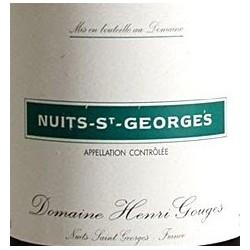 Domaine Henri Gouges Nuits Saint Georges Villages rouge 2015 etiquette
