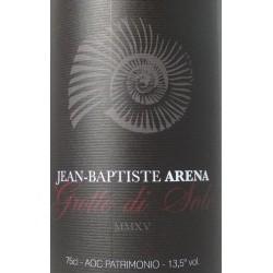 Domaine Jean-Baptiste Arena Patrimonio Grotte di Sole rouge 2016 etiquette
