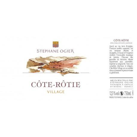 cote rotie le village Stephane Ogier 2015 etiquette