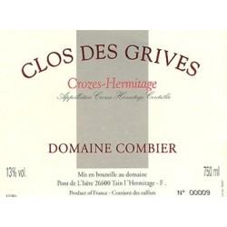 """Domaine Combier Crozes-Hermitage """"Le Clos des grives"""" 2015 etiquette"""