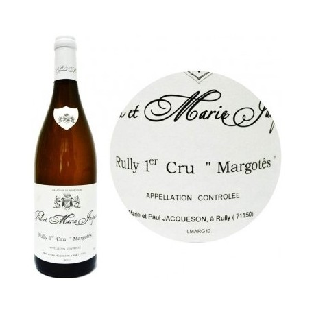 Domaine Paul et Marie Jacqueson Rully 1er Cru Les Margotes blanc 2016 bouteille