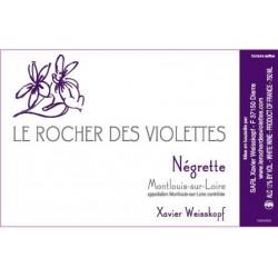 Le rocher des violettes xavier weisskopf Montlouis la négrette 2015 etiquette