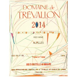 Domaine de Trevallon rouge 2014 etiquette