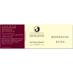 """Domaine JP et JF Quenard """"Elisa"""" (mondeuse) rouge 2016 etiquette"""