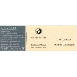 """Domaine JP et JF Quenard Chignin """"Anne de la Biguerne"""" (jacquere) blanc sec 2016 etiquette"""