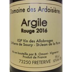 """Domaine des Ardoisieres """"Argile"""" rouge 2016 bouteille"""
