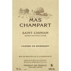 Mas Champart Saint-Chinian Causse du Bousquet rouge 2015 etiquette