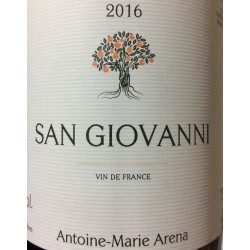 Domaine Antoine-Marie Arena San Giovanni rouge 2016 etiquette