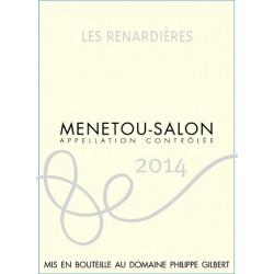 """Domaine Philippe Gilbert Menetou-Salon """"Les Renardières"""" rouge 2014 etiquette"""