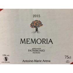 """Domaine Jean-Baptiste Arena Patrimonio """"Memoria"""" red 2015"""