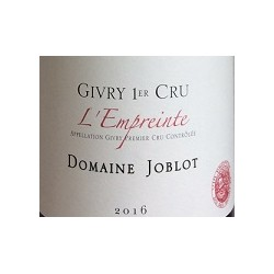 Domaine Joblot Givry 1er Cru Marole rouge 2016 bouteille