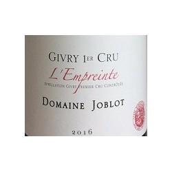 Domaine Joblot Givry 1er Cru l'empreinte rouge 2016 etiquette