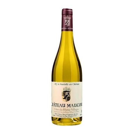 Chateau Maucoil Cotes du Rhone Villages blanc 2017 bouteille