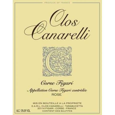 Clos Canarelli Corse Figari Rosé 2017 etiquette