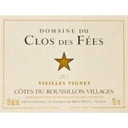 Le Clos des Fées Côtes du Roussillon Villages Vieilles Vignes 2015 etiquette