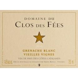 Clos des Fees grenache blanc Vieilles Vignes 2016 etiquette