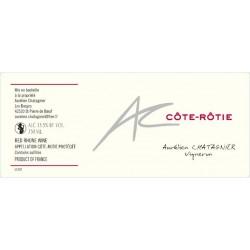 Cote Rotie Aurelien Chatagnier 2016 etiquette