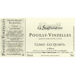"""Bret Brothers Domaine La Soufrandière Pouilly-Vinzelles """"Les Quarts"""" 2016 etiquette"""