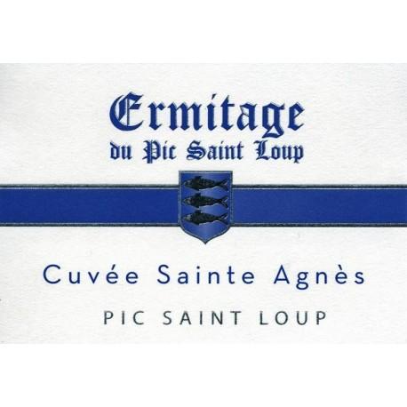 """Ermitage du Pic Saint-Loup """"Sainte Agnès"""" rouge 2016 etiquette"""