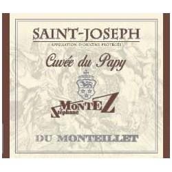 """Domaine du Monteillet (Stephane Montez) Saint-Joseph """"Cuvée du Papy"""" rouge 2016 etiquette"""