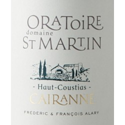 """Domaine de l'Oratoire Saint-Martin """"Haut-Coustias"""" rouge 2015 etiquette"""
