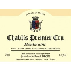 Domaine J-P et Benoit Droin Chablis 1er Cru Montmains 2017 etiquette