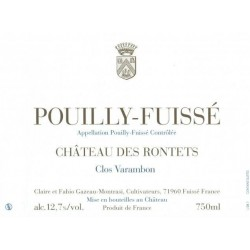 """Château des Rontets Pouilly-Fuissé """"Clos Varambon"""" 2016 blanc sec etiquette"""