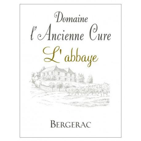 """Domaine de l'ancienne Cure Bergerac """"L'Abbaye"""" rouge 2015 etiquette"""