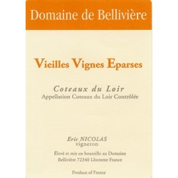 Domaine de Belliviere Vieilles Vignes Eparses blanc sec 2015 etiquette