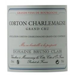 Domaine Bruno Clair Corton Charlemagne Grand Cru blanc 2016 etiquette