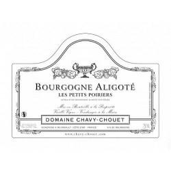"""Domaine Chavy-Chouet Bourgogne Aligoté """"Les Petits Poiriers"""" blanc sec 2017 etiquette"""