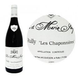 """Domaine Paul et Marie Jacqueson Rully """"Les Chaponnières"""" rouge 2017 bouteille"""