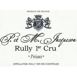 Domaine Paul et Marie Jacqueson Rully 1er Cru Preaux rouge 2017 etiquette
