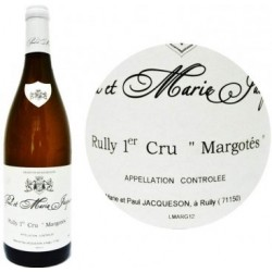 Domaine Paul et Marie Jacqueson Rully 1er Cru Les Margotes blanc 2017 bouteille