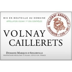 Domaine Marquis d'Angerville Volnay 1er Cru Caillerets 2016 etiquette