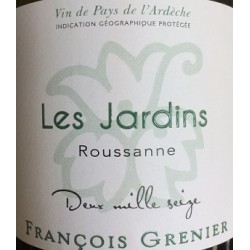 Domaine Francois Grenier Jardins Roussanne blanc 2017 etiquette