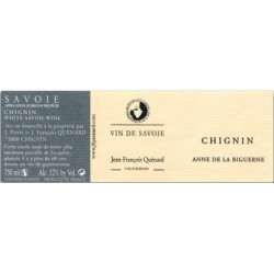 """Domaine JP et JF Quenard Chignin """"Anne de la Biguerne"""" (jacquere) blanc sec 2017 etiquette"""