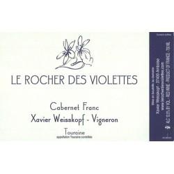 Rocher des Violettes Xavier Weisskopf Touraine Cabernet Franc 2016 etiquette