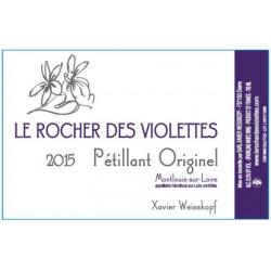 """Le Rocher des Violettes Montlouis """"Pétillant originel """" 2015"""