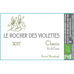 """Le Rocher des Violettes VdF """"Chenin"""" blanc sec 2017 etiquette"""