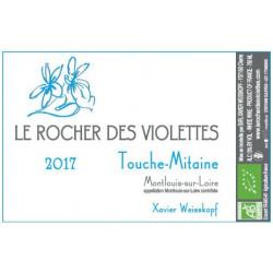 """Le Rocher des Violettes Montlouis """"Touche Mitaine"""" blanc sec 2017"""