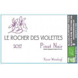 """Le Rocher des Violettes """"Pinot noir"""" rouge 2017 etiquette"""
