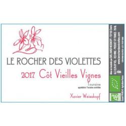 """Le Rocher des Violettes Touraine """"côt vieilles vignes"""" rouge 2017 etiquette"""