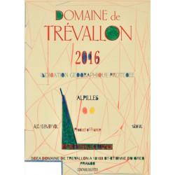 Domaine de Trévallon rouge 2016 etiquette