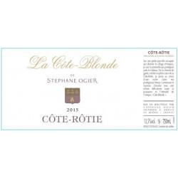 Cote Rotie Stephane Ogier La Cote Blonde 2015 etiquette