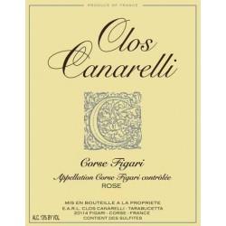 Clos Canarelli Corse Figari Rosé 2018 etiquette