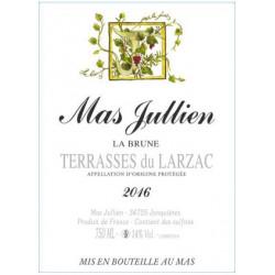 Mas Jullien La Brune rouge 2016 etiquette